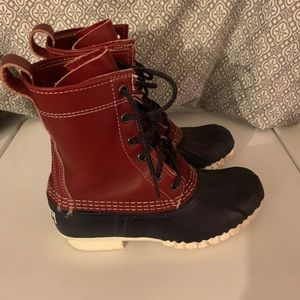 L.L. Bean Thinsulate Lined Colonial Red/Navy Sz 3Y